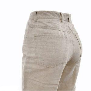 Vintage Talbots Irish Linen Blend High Waist Pant